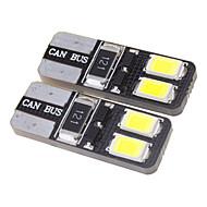 T10 1.5W 4x5730SMD 27LM 5500-6000K fresco Lâmpada LED branco para carro (12V)
