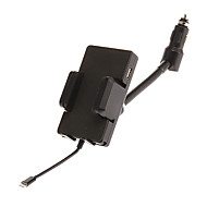 Hands-Free Car Holder + FM Transmitter and Car Charger for iPhone 5/4S/4, Samsung, HTC and Other Cellphones