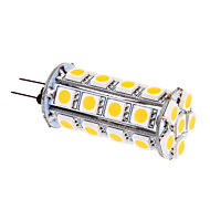 G4 6 W 30 SMD 5050 480 LM Warm White Corn Bulbs DC 12 V