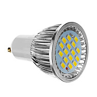 GU10 6W 16x5730SMD 640LM 6500K Super White Light LED Spot Blub (85-265V)