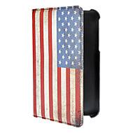 Vintage American Flag Pattern PU læder Full Body Taske til Samsung Galaxy tab3 P3200
