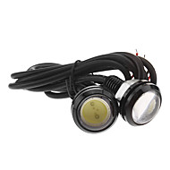 3W 1xCOB 400LM 6000K Cool White Light LED Eagle Eye Car Tail Lamp (12V,2pcs)