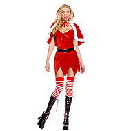 Costume de Noël de charme de fille rouge de velours femmes avec Cape