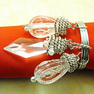 Casamento Gracioso Guardanapo Ring, Acrílico 4,5 centímetros Dia conjunto de 12