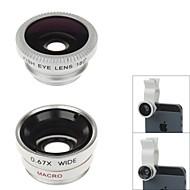 LX-U002 Universal Clip Lens Wide Angle + Macro + Fisheye Lens