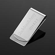 o presente personalizado do metal prata grampo do dinheiro (dentro de 10 caracteres)