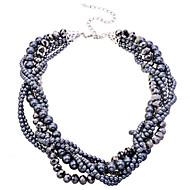 Damskie Naszyjniki choker Perlový náhrdelník Kryształ Perłowy Stop Black Biżuteria Na Impreza Codzienny