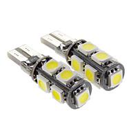 Canbus 2.3W 9-LED 160LM 6000K Cool White Light Bulb LED para carro (12V, 2 peças)