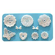 paistopinnan Flower Pitsi for Cake for Cookie for Pie Silikoni Ympäristöystävällinen Korkealaatuinen Ystävänpäivä