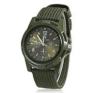 Masculino Estilo Militar Tecido banda quartzo analógico relógio de pulso (cores sortidas)