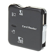 All-in-one USB 2.0-muistikortinlukija (musta, vaaleanpunainen)