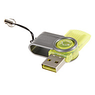 Mini USB Muistikortinlukija (punainen / vihreä / keltainen)