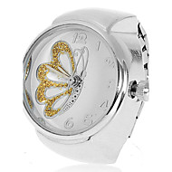 Women's Butterfly Pattern Silver Alloy Quartz Analog Ring Watch (Assorted Colors) Cool Watches Unique Watches