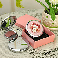 Personalized Gift Shivering Style Pink Chrome Compact Mirror