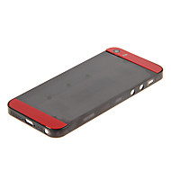 Black Hard Plastic Back Battery Housing with Red Glass For iPhone 5s