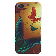Butterflies Fly to the Dawn Pattern Matte Designed PC Hard Case for iPhone 4/4S