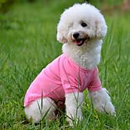 개 티셔츠 레드 / 오렌지 / 옐로우 / 그린 / 블루 / 핑크 강아지 의류 여름 솔리드
