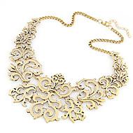 Damskie Kołnierz Oświadczenie Naszyjniki Stop Modny Europejski Silver Golden Biżuteria Na Impreza Codzienny 1szt