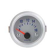 Voltage Meter Voltímetro Medidor de Auto Car 2 52 milímetros 8-16V Laranja Luz