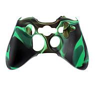 Xbox360과 무선 컨트롤러 실리콘 케이스 (녹색)