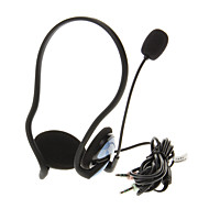 911 3.5mm High Quality On-ear Neck-Band Headphone Headset with Mic for Computer(Blue)