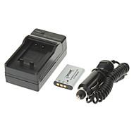 ismartdigi 680mAh Batteri + Billaddare för NIKON S500 S550 S560 S660 OLYMPUS Li-60B/RICOH DB-80/SANYO DB-L70