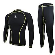 arsuxeo החליפה של גברים שכבת בסיס דחיסה (גרביונים ג'רזי + / מכנסיים) גרביונים מהירים ייבוש + נשימת שרוול ארוך