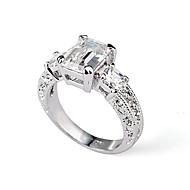 Ringe Bryllup Fest Afslappet Smykker Guldbelagt Dame Statement-ringe6 7 8 Sølv