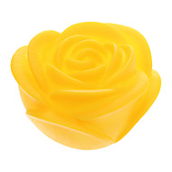 Yellow Rose Shaped Colorful LED Night Light (3xAG13)