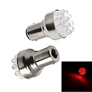 Merdia 1156 1W 72lm 12 SMD LED Red Light Car Brake Light / Backup Light (pair / 12V)