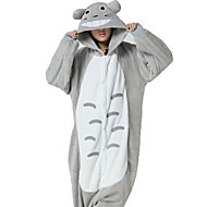 Kigurumi Pajamas Cat / Totoro Leotard/Onesie Halloween Animal Sleepwear White / Gray Patchwork Coral fleece Kigurumi Unisex Halloween