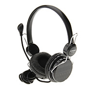 715 3.5mm High QualityHeadset On-ear Headphone Headset with Mic for Computer(Black)