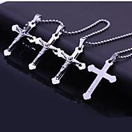 Colar Pingente Presente Aço Inoxidável Cruz gravado personalizado jóias (Dentro de 10 caracteres)