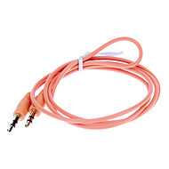 3,5 mm audio jack-kabel (Orange 1.0m)