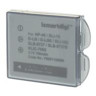 ismartdigi 750mAh Batteri + Billaddare för Fuji F700 PENTAXD-LI95, Kodak KLIC7005/Ricoh DLI-102