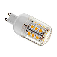 G9 4 W 30 SMD 5050 400 LM Warm White T Dimmable Corn Bulbs AC 220-240 V