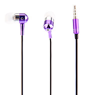 J903 3,5 milímetros elegante Zipper Headphone In-Ear com microfone (roxo)