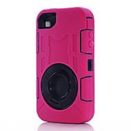 Karu Shockproof Defender Case Cover pyörivällä Kickstand iPhone 4/4S