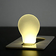 Neuheit Kreditkarte Design Glühbirnenform gelbe LED-Licht (1xcr1216)