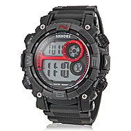 Men's Multi-Functional Round LCD Digital Silicone Band Sporty Wrist Watch (Assorted Colors)