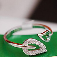 Band Rings Alloy Leaf Heart Fashion Gold Silver Jewelry Party Daily Casual