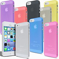 MAYLILANDTM Ultra Thin Transparent Crystal Clear Case for iPhone 5/5S (Assorted Colors)