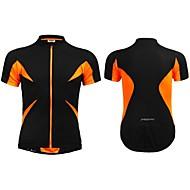 Jaggad Estate Unisex Nero Arancione poliestere Spandex Zipper tasca posteriore Cycling Jersey