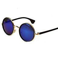 Unisex Vintage coloridas redondas lente gafas de sol de marco de metal