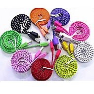 DURABLE Flat Micro USB Braided Fabric Nylon Sync Charge Cable for Samsung Galaxy Note 3