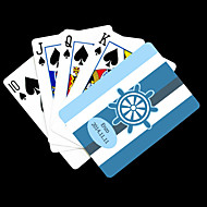 Personalized Gift Blue Anchor Striped Pattern Playing Card for Poker