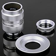 25mm F1.4 CCTV Lens + Macro Anneaux + C-M4 / 3 Adaptateur Bague pour Olympus / Panasonic Caméra etc - Argent