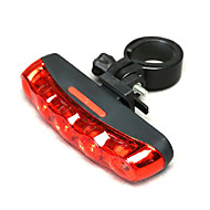 Eclairage arrière,Bicyclette rouge MOON 5 LED lumière de queue pour sécurité