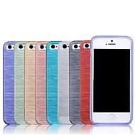 아이폰 5/5S를위한 새로운 닦았 텍스처 TPU 소프트 케이스 (분류 된 색깔)