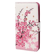 COCO FUN ® Flora Flower Wallet kortspor Full Body PU lær tilfeller med stativ for iPhone 4S Inkludert Film Og Stylus